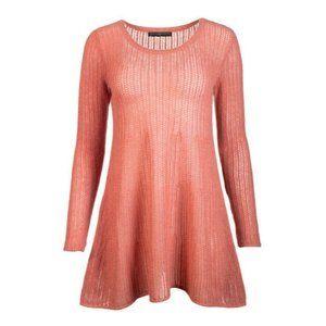 Peruvian Connection Salmon Pink Royal Alpaca Dress